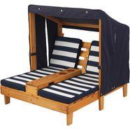 kidkraft klapstoel voor kinderen »dubbel zonnebed met bekerhouders, witblauw« bruin