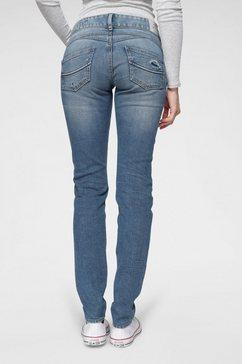 herrlicher destroyed jeans »gila slim« blauw