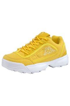 kappa sneakers »rave sun« geel