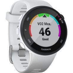 garmin forerunner 45s, silicone-armband 18mm smartwatch (2,63 cm - 1,04 inch) wit