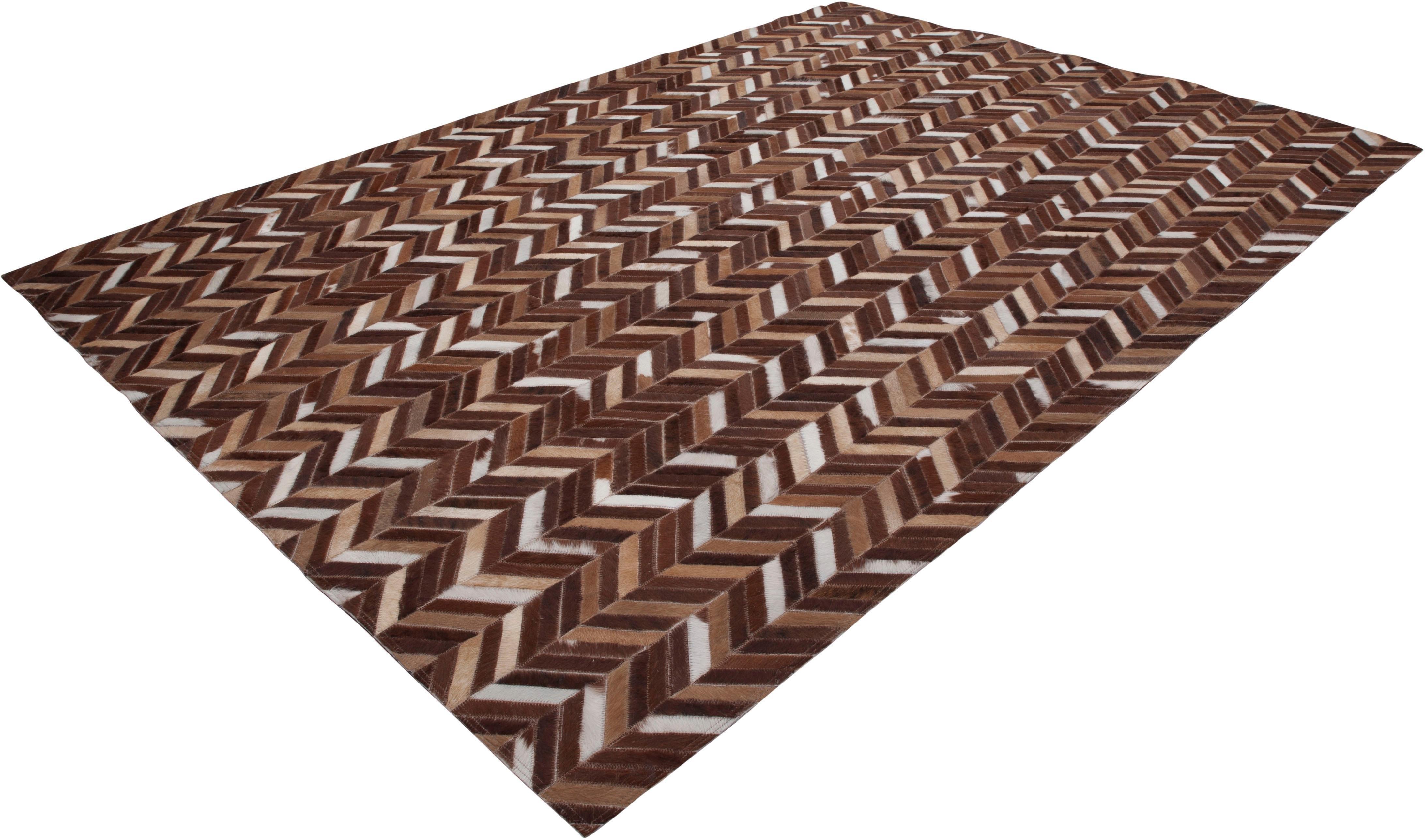 Calo-deluxe Leren vloerkleed, »Luxor 850«, rechthoekig, hoogte 8 mm, gelooid goedkoop op otto.nl kopen