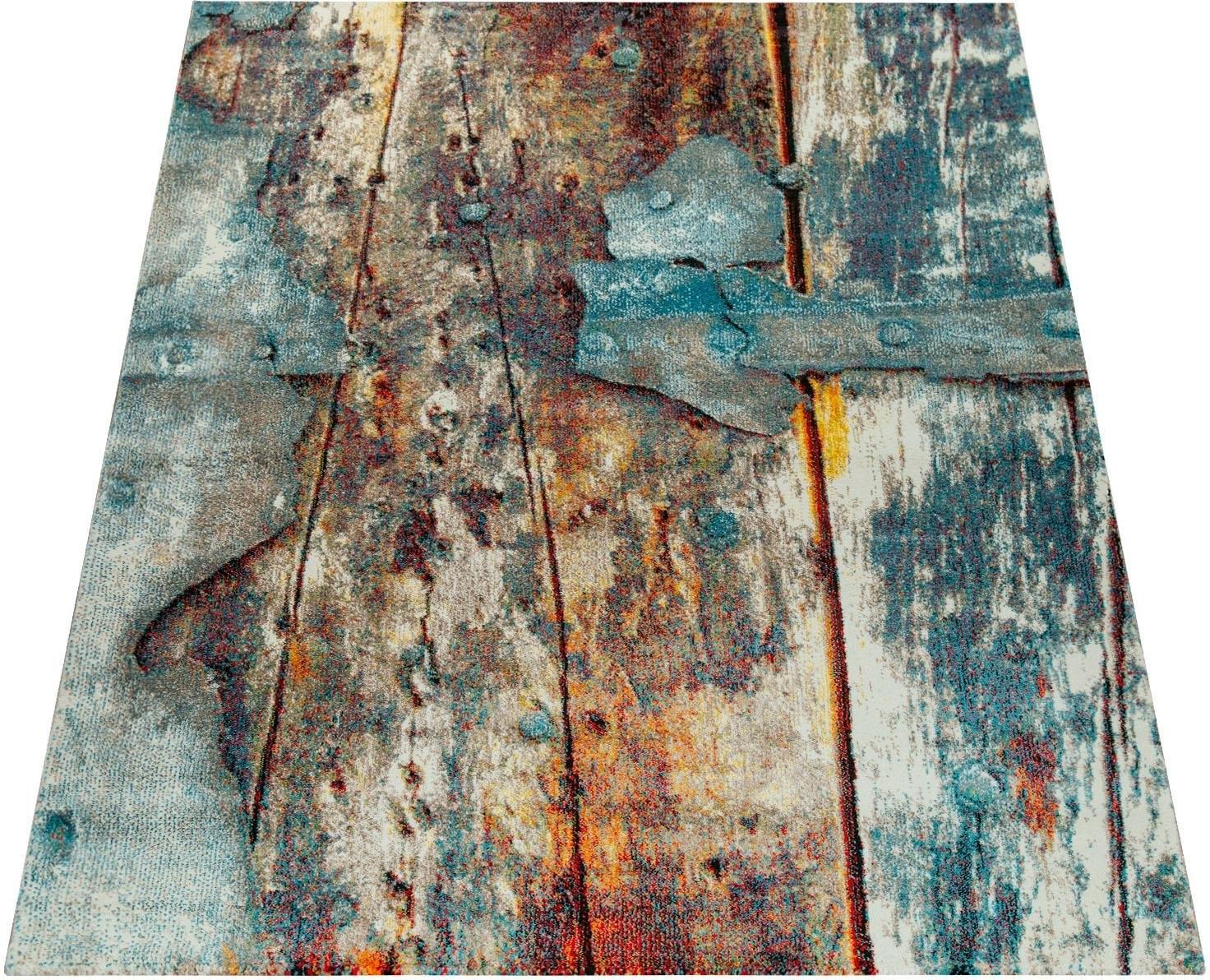 Op zoek naar een Paco Home Vloerkleed Natura 850 Korte pool met artistiek houten platen design, woonkamer? Koop online bij OTTO