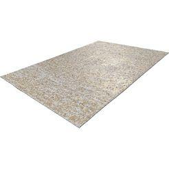 leren vloerkleed, »vezzana 615«, calo-deluxe, rechthoekig, hoogte 5 mm, natuurproduct beige
