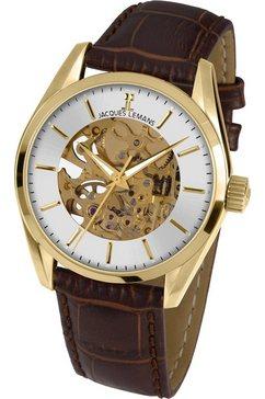 jacques lemans automatisch horloge »derby automatic, 1-1909b« bruin
