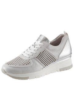 tamaris sneakers met sleehak »pure relax« grijs