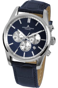 jacques lemans chronograaf »jacques lemans 42-6, 42-6b« blauw