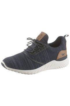 mustang shoes slip-on sneakers met modieuze logo-applicaties blauw