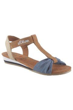 s.oliver sandalen bruin