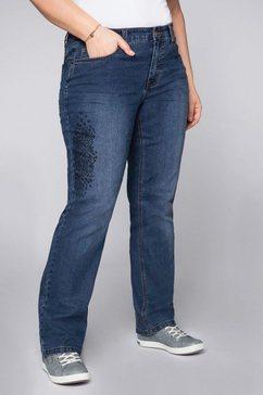 sheego rechte jeans blauw