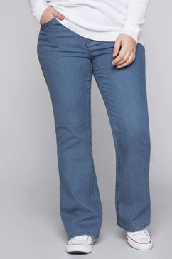 sheego stretch jeans blauw