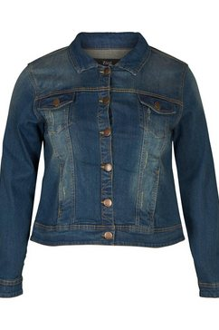 zizzi jeansjack blau