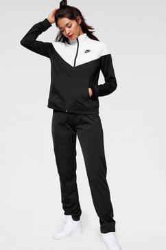 nike sportswear trainingspak »w nsw trk suit pk« (2-delige set) zwart