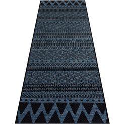bougari loper sidon geschikt voor binnen en buiten, platweefsel blauw