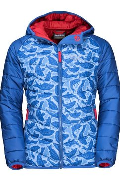 jack wolfskin winterjack »zenon print jacket kids« blauw