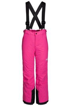 jack wolfskin skibroek »powder mountain pants kids« roze