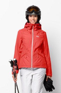 jack wolfskin ski-jack »powder mountain jacket w« rood