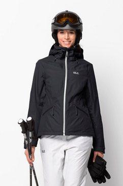 jack wolfskin ski-jack »powder mountain jacket w« zwart