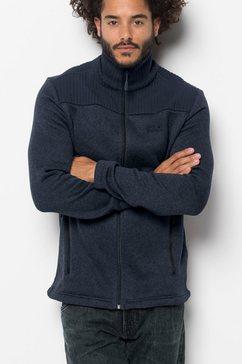 jack wolfskin fleecejack »scandic jacket men« blauw
