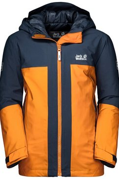 jack wolfskin ski-jack »powder mountain jacket boys« oranje