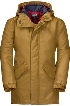 jack wolfskin functioneel 3-in-1-jack »ice cave 3in1 jacket boys« geel