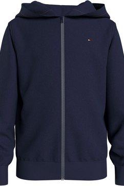 tommy hilfiger capuchonsweatvest »essential hooded zip thr« blauw