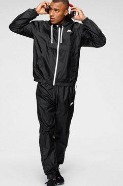 nike sportswear trainingspak m nsw ce trk suit hd woven (set, 2-delig) zwart