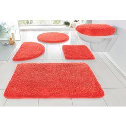 badmat »sanremo«, my home, hoogte 30 mm, met antislip-coating, geschikt voor vloerverwarming rood