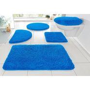 badmat »sanremo«, my home, hoogte 30 mm, met antislip-coating, geschikt voor vloerverwarming blauw