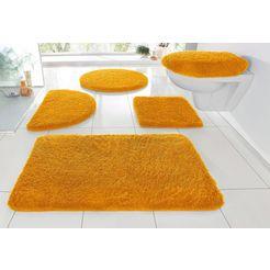 badmat »sanremo«, my home, hoogte 30 mm, met antislip-coating, geschikt voor vloerverwarming geel