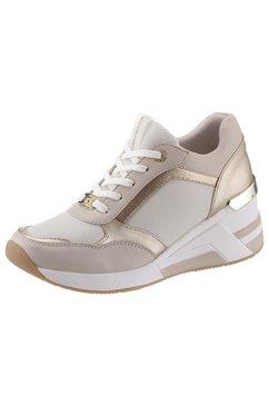 tom tailor sneakers met sleehak beige