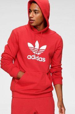 adidas originals hoodie »trefoil hoodie« rood