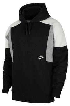 nike sportswear hoodie »men's color-block pullover hoodie« zwart