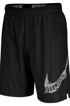 "nike trainingsshort »nike flex men's 8"" graphic training shorts« zwart"
