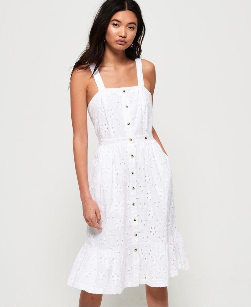 Superdry kanten jurk »CAMILLE BUTTON SCHIFFLI DRESS« bij OTTO online kopen