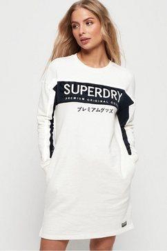 superdry sweatjurk »panel graphic sweat dress« wit