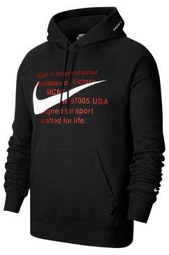 nike sportswear hoodie »nike sportswear swoosh men's pullover hoodie« zwart
