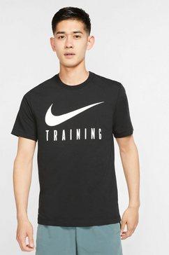 nike t-shirt »nike dri-fit men's training t-shirt« zwart