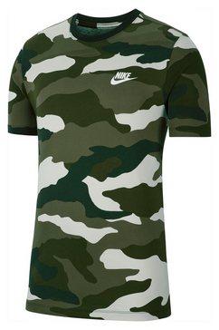 nike sportswear t-shirt »nike sportswear men's camo t-shirt« groen