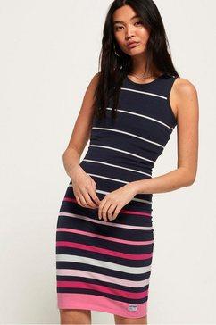 superdry jerseyjurk »stripe midi dress« blauw