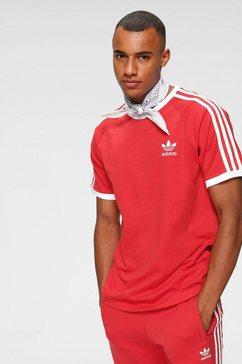 adidas originals t-shirt »3-stripes tee« rood