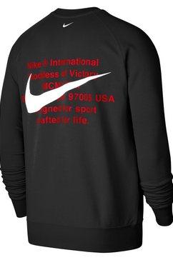 nike sportswear sweatshirt »nike sportswear swoosh men's french terry crew« zwart