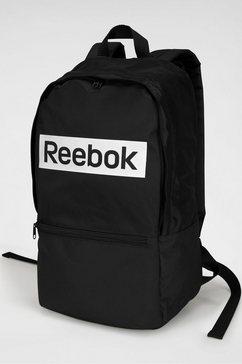 reebok sportrugzak »linear logo bp« zwart