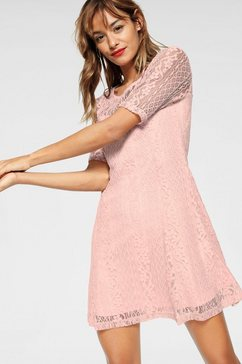 ajc kanten jurk roze