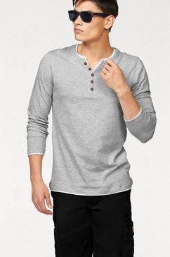 john devin shirt met lange mouwen longsleeve layer grijs