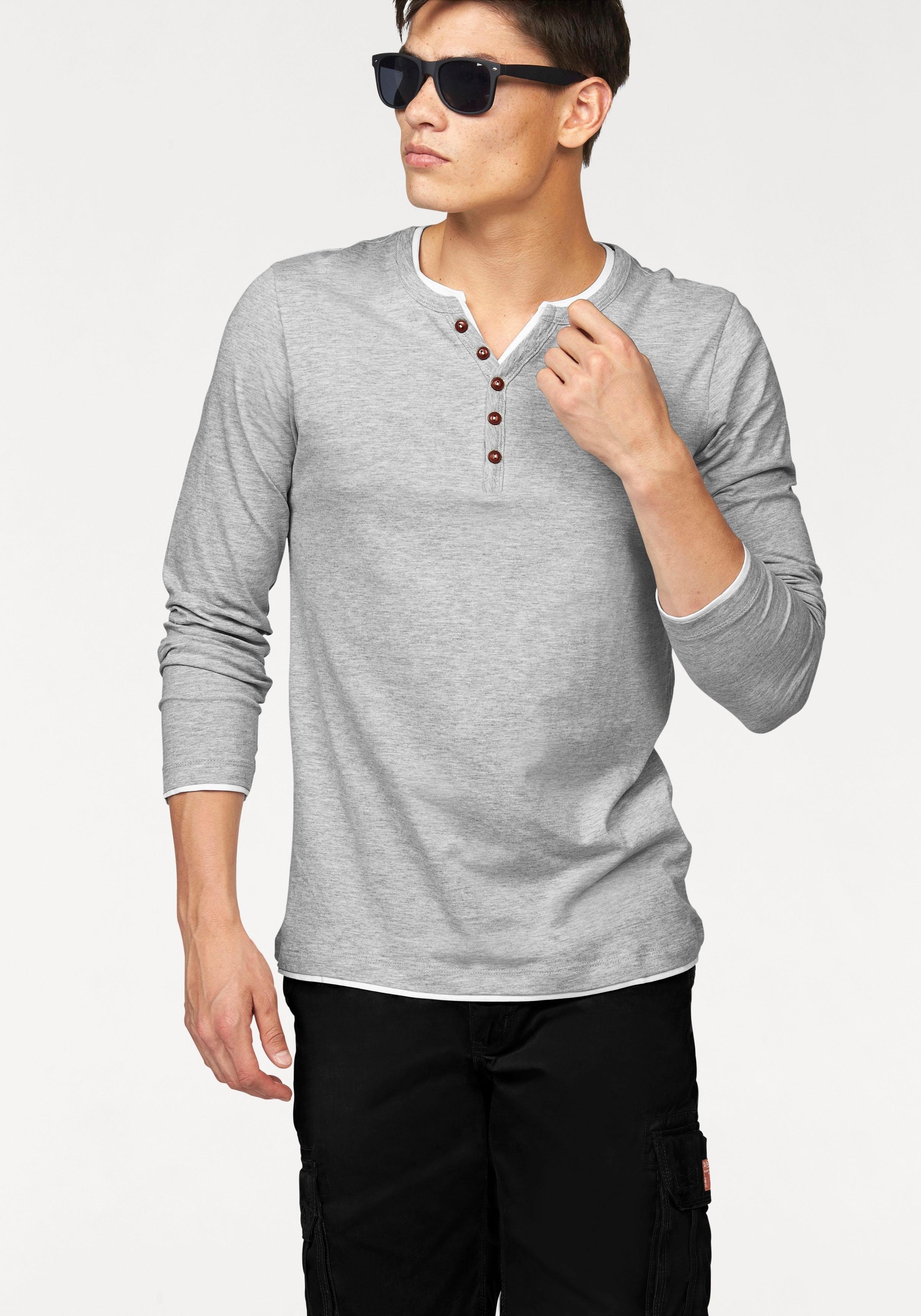 John Devin Shirt met lange mouwen Longsleeve Layer nu online kopen bij OTTO
