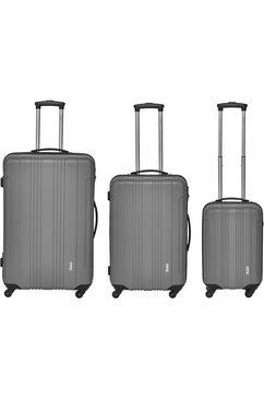 packenger trolleyset 'torreto', 4 wieltjes, (3-delig) grijs
