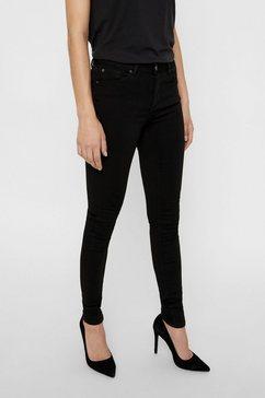 vero moda skinny fit jeans »lux« zwart