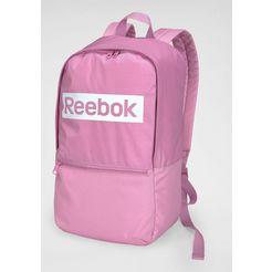 reebok sportrugzak »linear logo bp« roze