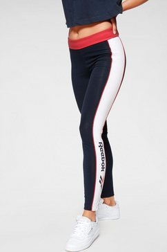 reebok classic legging »cl f linear legging« blauw