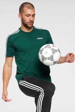 adidas t-shirt »essentials 3 stripes tee« groen